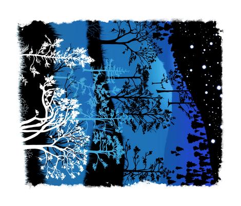 Blue fabric by jadegordon on Spoonflower - custom fabric