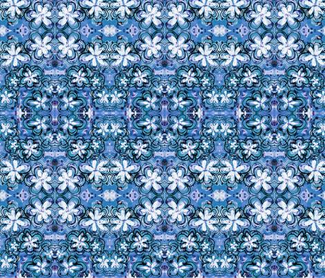 blueflowers fabric by emmaleeerose on Spoonflower - custom fabric