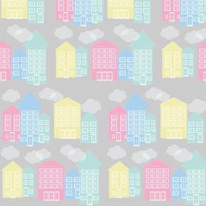 ice cream houses - grey