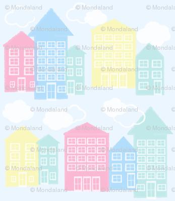 ice cream houses - blue