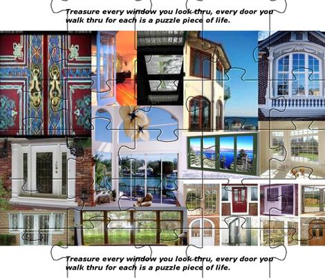 Doors_Windows fabric by charldia on Spoonflower - custom fabric