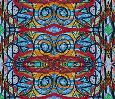 dirty stained glass fabric by emmaleeerose on Spoonflower - custom fabric