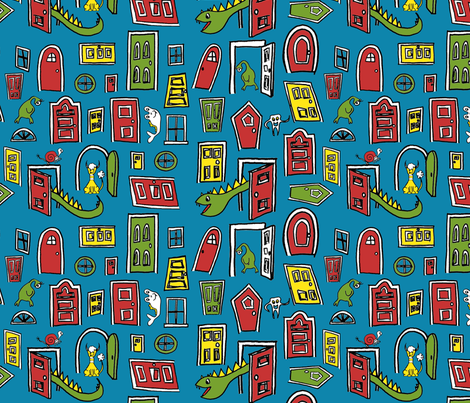 Monster House fabric by mandyd on Spoonflower - custom fabric
