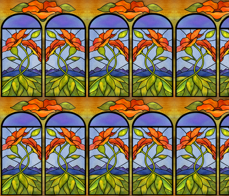 The window in my door fabric by vo_aka_virginiao on Spoonflower - custom fabric
