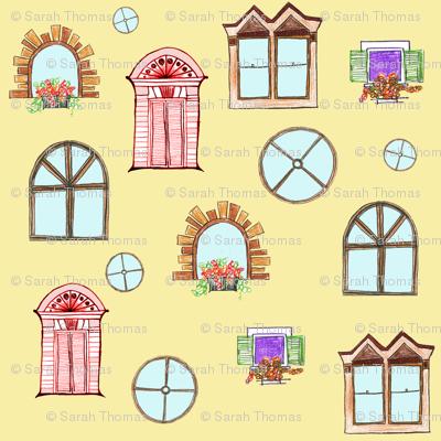 Doodles of doors and windows
