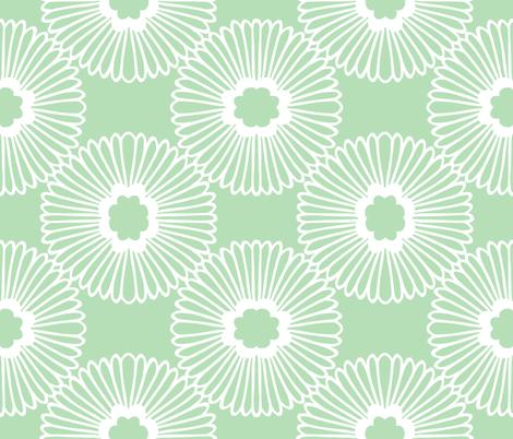 Flower - Mint fabric by elephantandrose on Spoonflower - custom fabric