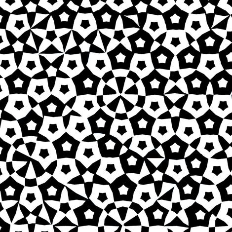 quasicrystal stars (B&W) fabric by weavingmajor on Spoonflower - custom fabric
