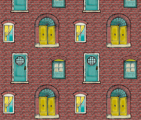 Brick Wall fabric by mytinystar on Spoonflower - custom fabric