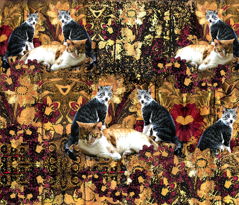 CATS fabric by rubyrice on Spoonflower - custom fabric