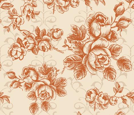 brown flower fabric by blingmoon on Spoonflower - custom fabric