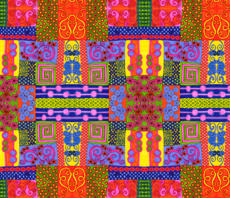 patchwork fabric by joonmoon on Spoonflower - custom fabric