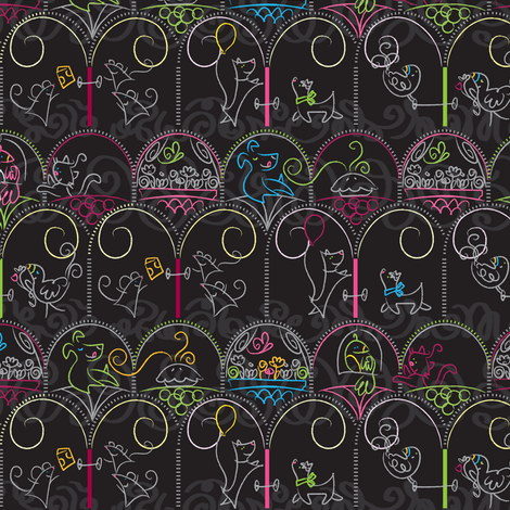 Windows & Doors: hello neighbor! - © Lucinda Wei fabric by lucindawei on Spoonflower - custom fabric