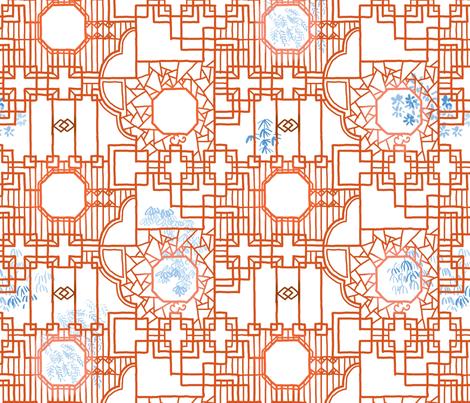 Oriental Window fabric by pixo on Spoonflower - custom fabric