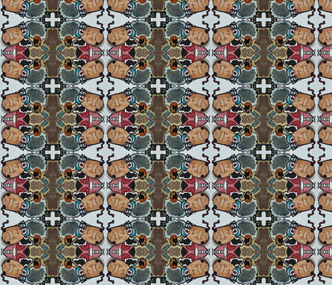 angry sheep fabric by emmaleeerose on Spoonflower - custom fabric