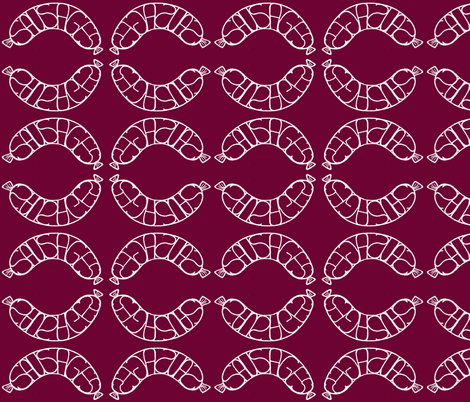 Sausages fabric by littlebeardog on Spoonflower - custom fabric