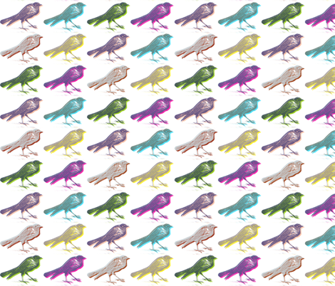 stereo birds fabric by ravynka on Spoonflower - custom fabric