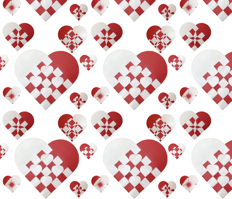 Danish Christmas Hearts fabric by upcyclepatch on Spoonflower - custom fabric