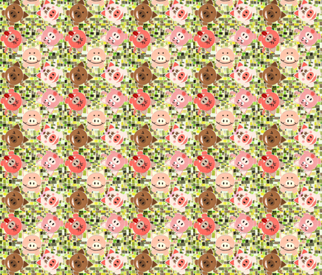 Poggies fabric by swirlscape on Spoonflower - custom fabric