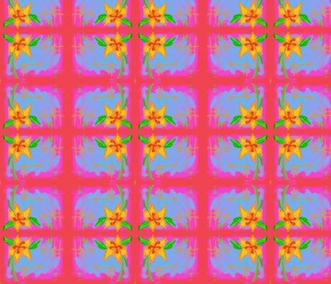 hibiscus fabric by namastemama on Spoonflower - custom fabric