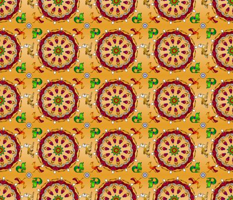 KaleidoCarousel150CK fabric by whatsit on Spoonflower - custom fabric