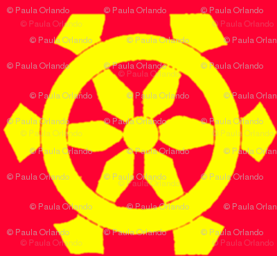 Red & Yellow Prayer Wheels