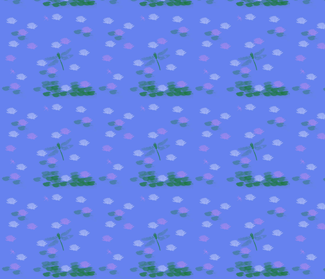 Blue Pond fabric by snooky on Spoonflower - custom fabric