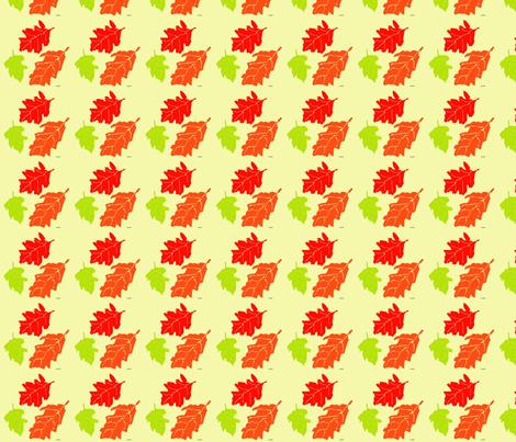 Oak Leaves fabric by snooky on Spoonflower - custom fabric
