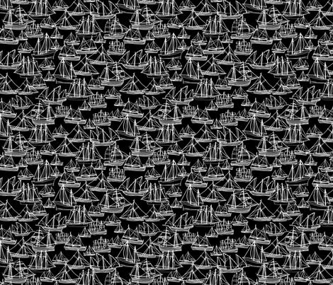 Sailing Ships - Midnight fabric by laurenhunt on Spoonflower - custom fabric
