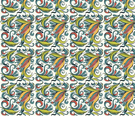 flora swirl bright fabric by delartful on Spoonflower - custom fabric