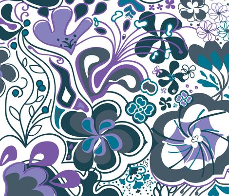 FlowerPower_2 fabric by luana_life on Spoonflower - custom fabric