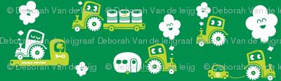 On Wheels in green