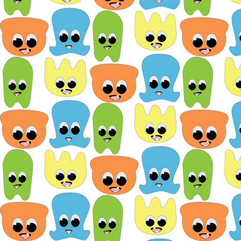 Mini Monsters fabric by kaddy_w on Spoonflower - custom fabric