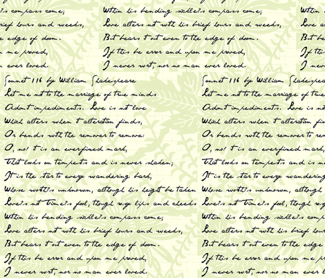 Sonnet 116 fabric by paulamarie on Spoonflower - custom fabric