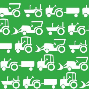 tractor factor in white and green
