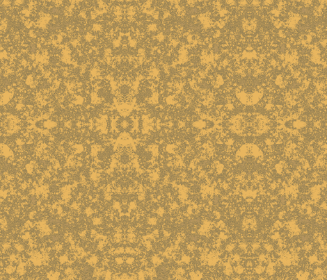 Lichen in Gold and Green © 2010 Gingezel™ Inc. fabric by gingezel on Spoonflower - custom fabric