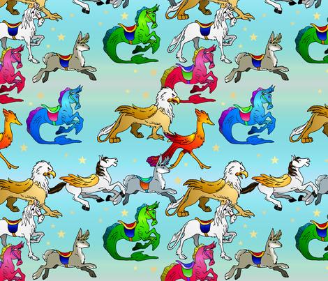 LMC_FantasyCarousel fabric by whatsit on Spoonflower - custom fabric