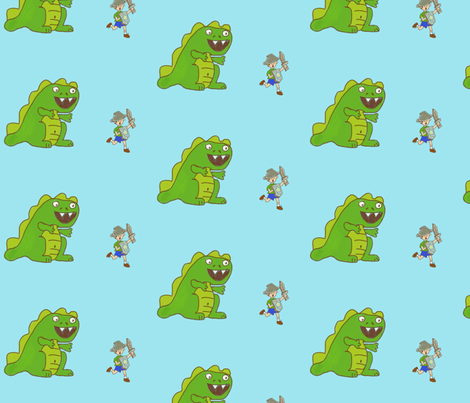 Dragon Slayer fabric by namastemama on Spoonflower - custom fabric