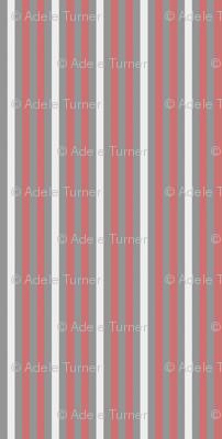 Dusty pink stripe