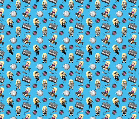 Tiny Gaga - Just Dance! fabric by jaana on Spoonflower - custom fabric