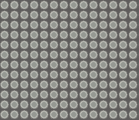 Edgy Circles in stone © 2009 Gingezel ™ fabric by gingezel on Spoonflower - custom fabric