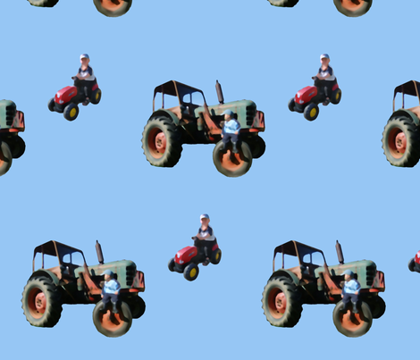 2tractors fabric by hevilja on Spoonflower - custom fabric
