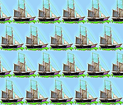 Sailing... Sailing... fabric by robin_rice on Spoonflower - custom fabric