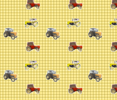 tractors fabric by ravynka on Spoonflower - custom fabric