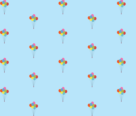 balloon bouquet fabric by amybethunephotography on Spoonflower - custom fabric