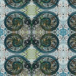 spirals and diamonds