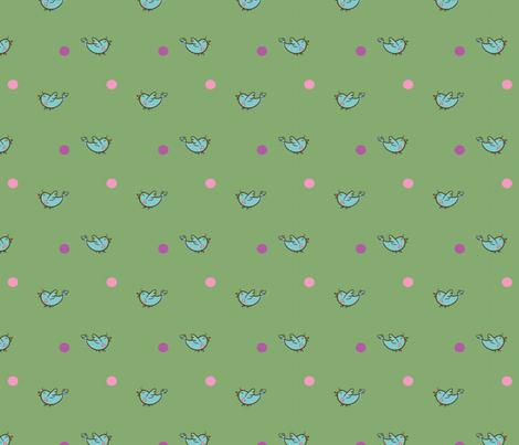 HappyBirdsGrn fabric by air_&_loom on Spoonflower - custom fabric