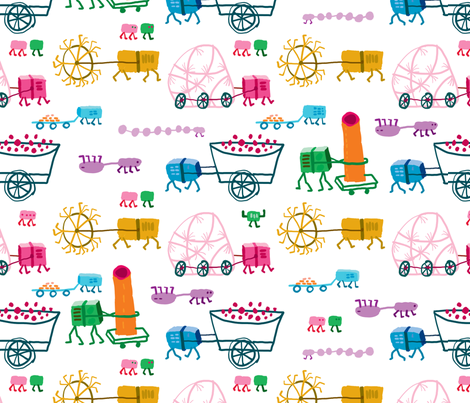 Tractors fabric by pixo on Spoonflower - custom fabric