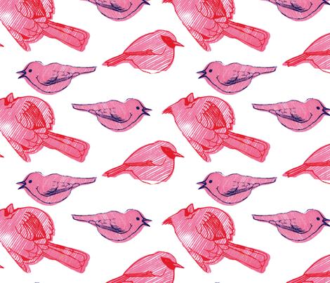 small stripy birdies fabric by leonielovesyou on Spoonflower - custom fabric