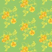 MandalaFlowers-frenchgreen&yellow