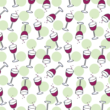 Wine Glasses fabric by donnamarie on Spoonflower - custom fabric